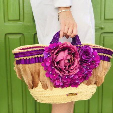 Capazo personalizado con flores